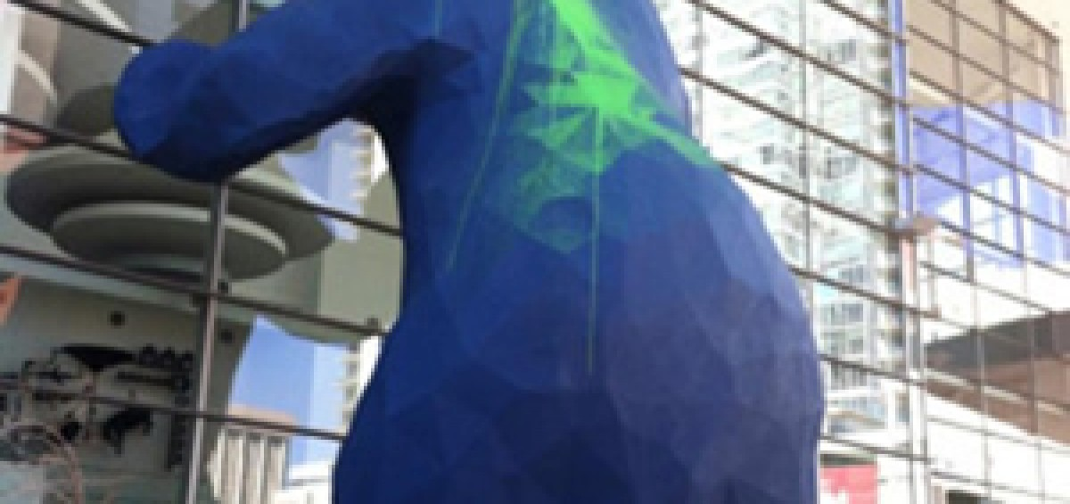 Denver Blue Bear Vandalism