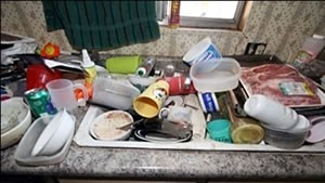 Dirty dishes could mean child neglect