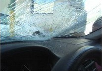 Windshield Window Shattered